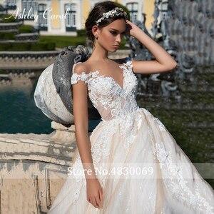 Image 4 - Ashley Carol A Lineชุดแต่งงาน2020 Elegant Sweetheartหรูหราลูกปัดลูกไม้Appliques Tulleเจ้าสาวเจ้าหญิงชุดเจ้าสาว