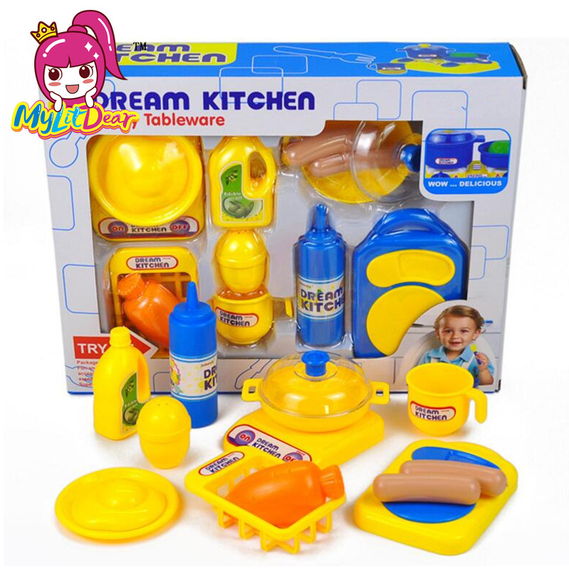 MylitDear Classic Cooking Toys For Children 13PCS Pretend Play Cutting Food Set Kids Kitchen Educational Toy Play House Toys