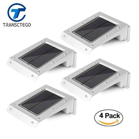 4 pcs 20 led solar luz pir sensor de movimento ao ar livre luzes caminho