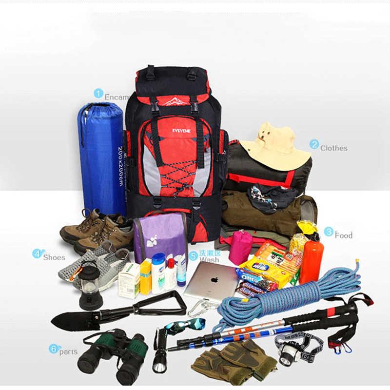 80L Tahan Air Hiking Ransel Besar Kapasitas Perjalanan Olahraga Camping Rucksack, Perjalanan Gunung Tas Ransel untuk Pria, biaya Trekking