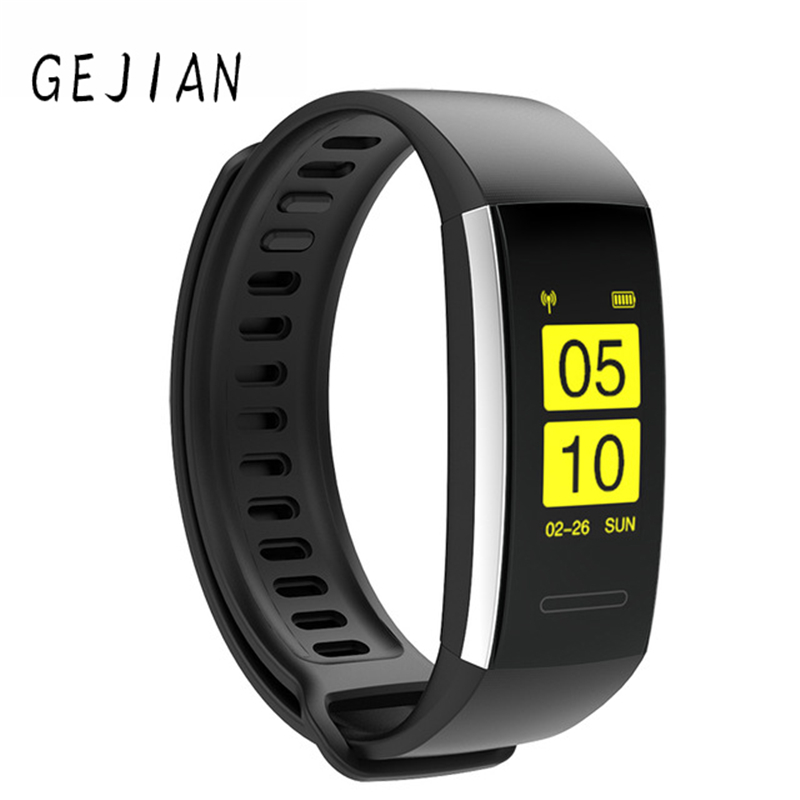 2019 Fashion Gejian Hi15 Smart Bracelet Ip67 Fitness Tracker Wristband Heart Rate Blood Pressure Watch Pulse Meter Sms Oxygen Call Sport Band Strong Resistance To Heat And Hard Wearing Men's Watches Digital Watches