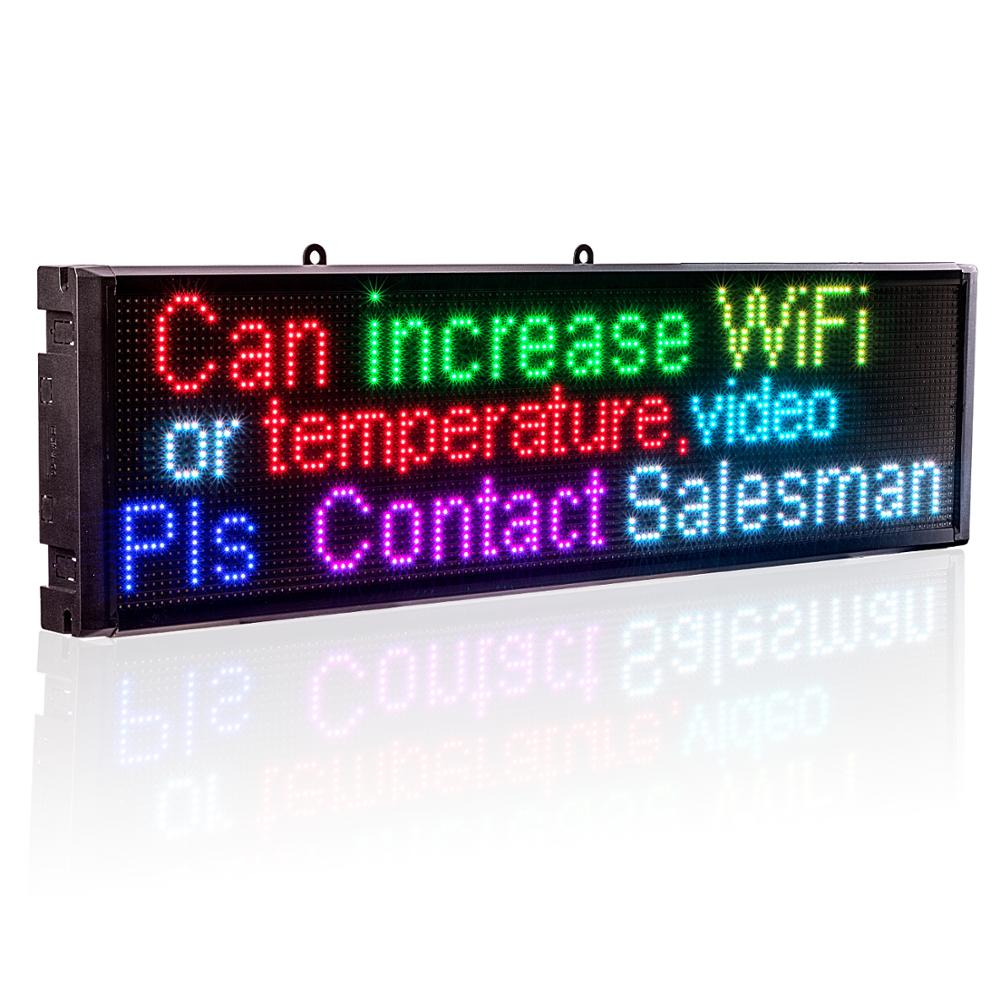 P5 LED Signs Smd RGB Full Color Module Indoor WiFi Shopwindow Programmable Scrolling Message Display Board- EU US Plug