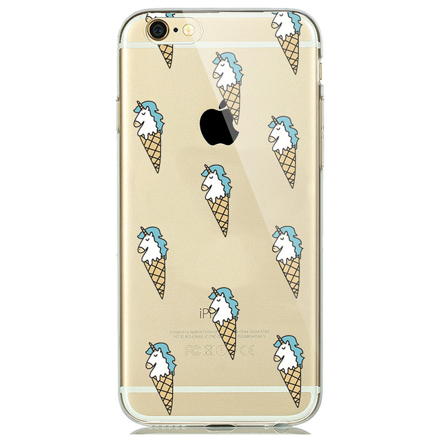 Soft Silicone Case Cover For iPhone with Funny Prints