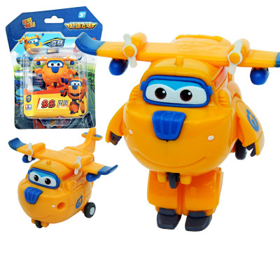 13styles Newest 7cm Super Wings toys Mini Planes Transformation Robot Action Fig
