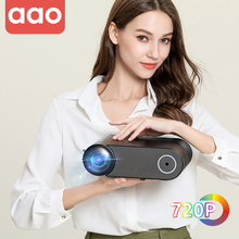 AAO YG400 Upgrade Mini Projector YG420 Native 1280x720 HD Movie Home Theater Video Wireless WiFi Multi Screen Video Beamer YG421