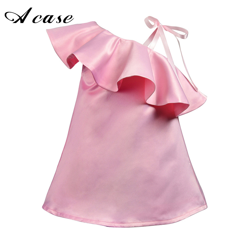 Girls 2018 Summer Harness Strapless Dresses Pink Cool Fashion 1 2 3 4 5 6 Years Kids Toddlers Clothes Sundresses Dress Princess