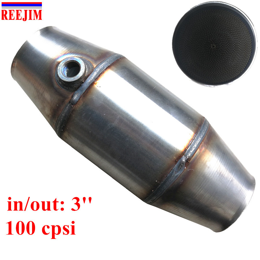 3'' inlet outlet Universal 100 Cell High Flow Metallic-Core Race Catalytic Converter