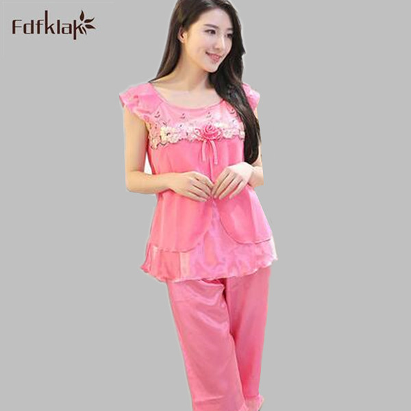 c2fda38280 2017 Summer new arrival female casual pajamas tracksuit pyjamas sleepwear  clothing for women s home pijamas mujer S0064