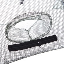 93 * 93cm Folded Automatic Fishing Net Octagon 8 Holes Fishing Shrimp Trap Minnow Crab Baits Cage Cast Mesh Trap Fishing Network