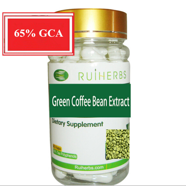 1Bottle Green Coffee Bean Extract 65% Chlorogenic Acid Capsule 500mg x 90pcs free shipping