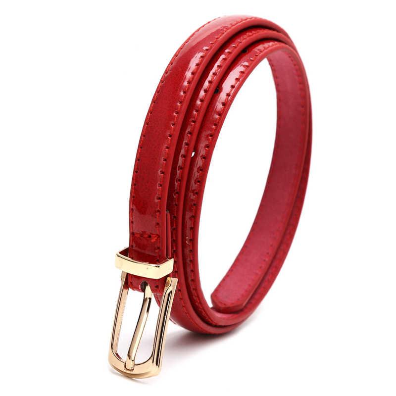 Candy Kleur Metalen Gesp Dunne Casual Riem Voor Vrouwen, Lederen Riem Vrouw Riemen Tailleband Voor Kleding Accessoires