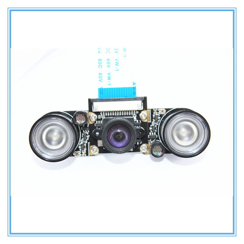 Image 4 - Raspberry Pi 3 Night Vision Fisheye Camera 5MP OV5647 100 Degree Focal Adjustable Camera for Raspberry Pi 3 Model B Plus-in Demo Board Accessories from Computer & Office