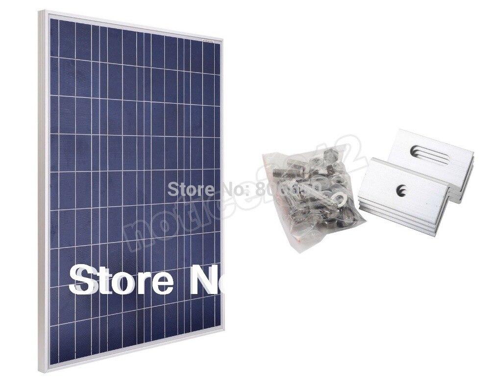 Hot* Solar Panel 100W 12v + Z mounting bracket for 12v battery charger, free shipping цена