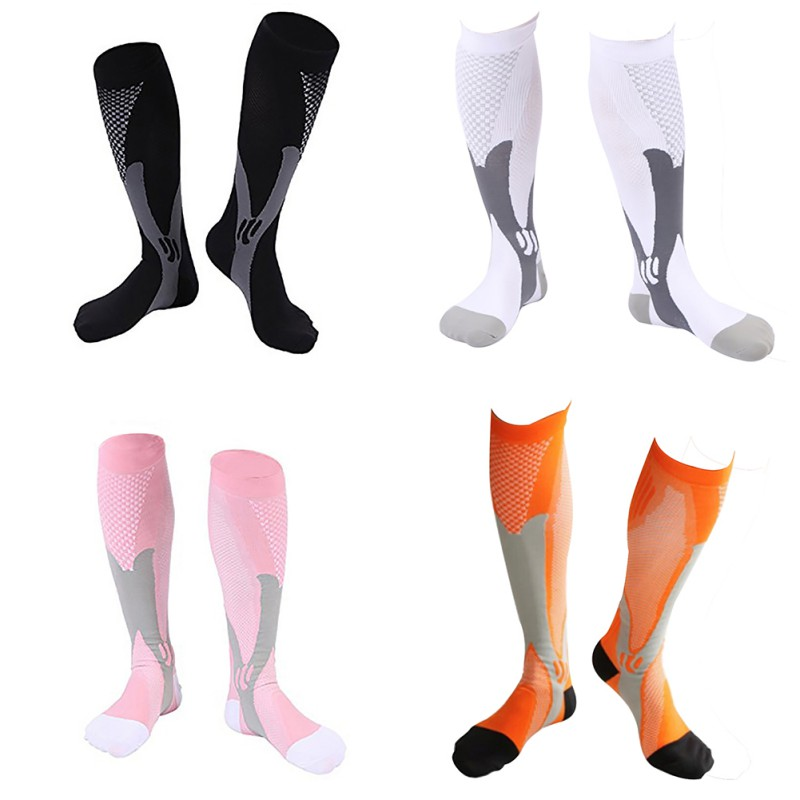 Compression Socks Casual Style Knee High/Long Elastic Hosiery Running Footwear Accessories Riding Cycling Basketball Sport Sock