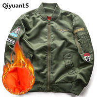 QiyuanLS Men Bomber Jacket Military U S Army Jackets Coats Autumn Casuals Men S Padded Pilots