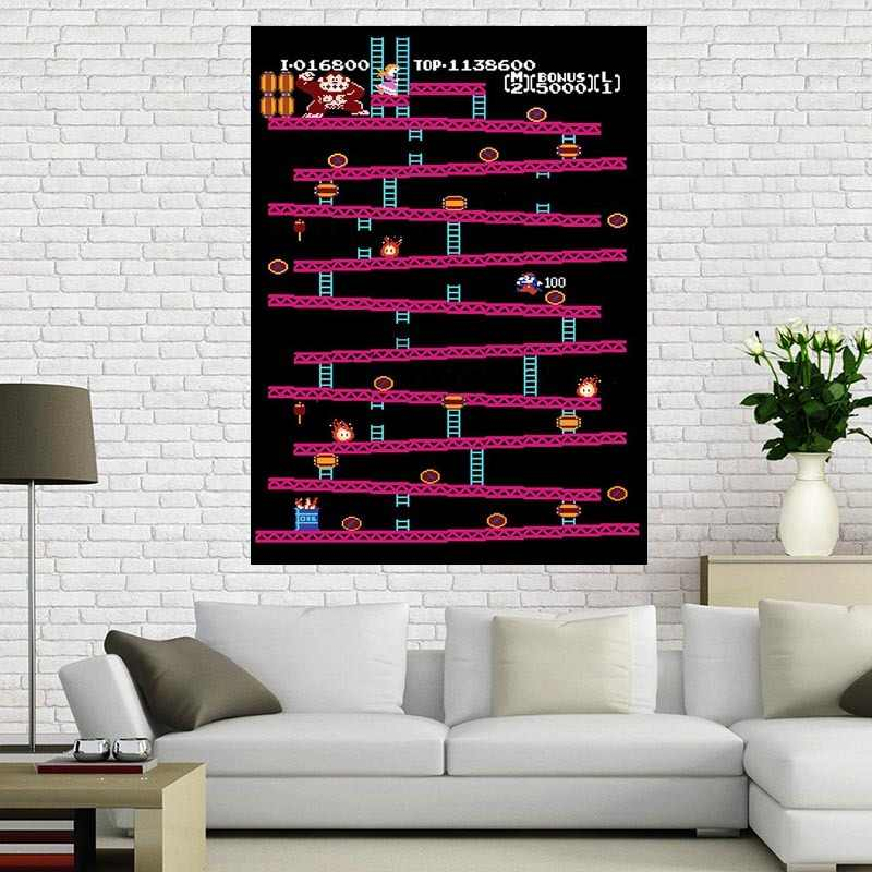 Donkey Kong - Retro Nintendo Gaming Poster (Classic Donkey Kong / NES) , 40x60 cm Home Decoration Custom canvas poster
