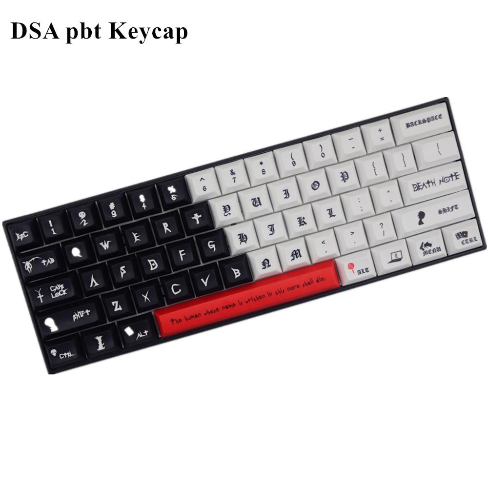 Nouveauté DSA pbt keycap colorant sub keycaps 61 touches pour commutateur cherry mx