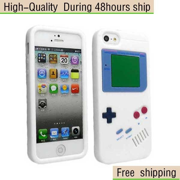 New For GameBoy Desgin Soft Silicone Case Cover For Apple iPhone 5 5G 5th Free Shipping UPS DHL HKPAM CPAM SW-75