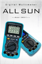 ALL SUN EM5511 3in1 Auto Range  Digital Multimeter Voltmeter Ammeter Ohmmeter DC AC EMF Automotive Tester