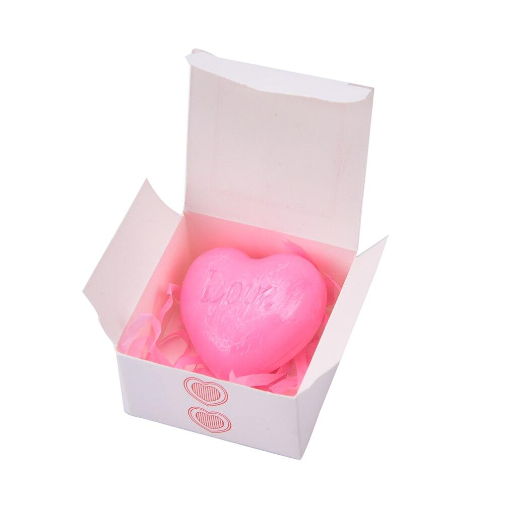 1pcs/pack Handmade Love Heart shaped Design Bath Soap Wedding Party ...