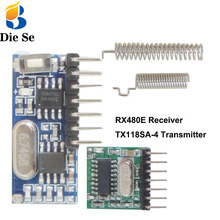 цена на 433Mhz Superheterodyne RF Transmitter and Receiver Module Switch For Arduino uno Wireless module DIY Kits 433Mhz Remote controls