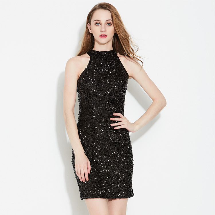 Sexy Strapless Sleeveless Off Shoulder Sequined Costumes Nightclub ...