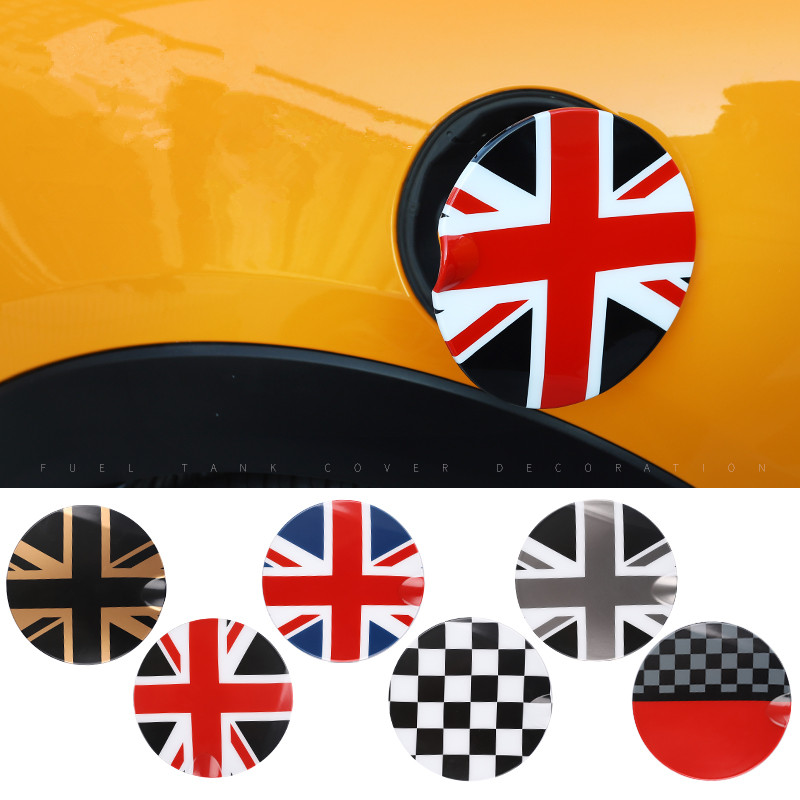 Union Jack ABS Car Fuel Tank Cap Decoration Case Cover Sticker Housing For Mini Cooper F55 F56 Auto Exterior Styling Accessories