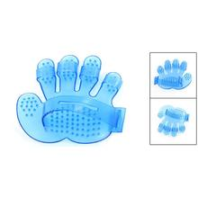 New Hotsale Best Price In Aliexpress promotion Dog Cat Rabbit Pet Grooming Brush Fur Massage Glove Brush - Blue(China)