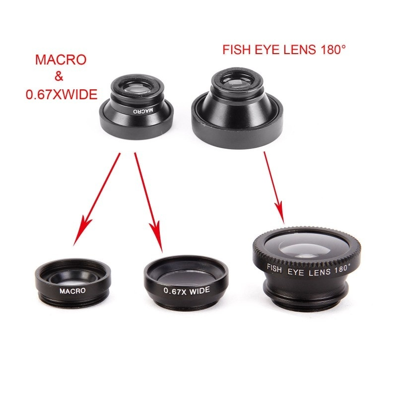 FishEye Macro Phone Camera Lens for iPhone Huawei Samsung Xiaomi Models 2
