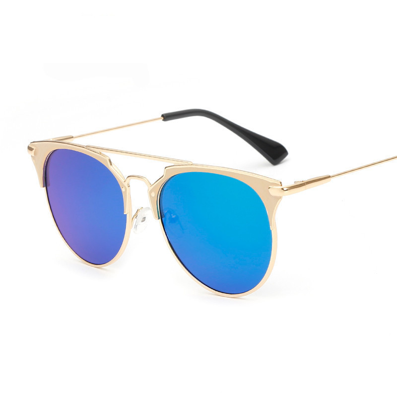 Fashion Sexy Cat Eye Sun Glasses Oval Mirror Eyeglasses Women Famous Brand Designer Shopping Goggle UV400 Oculos De Sol Feminino