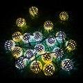 Blanco cálido 10 Bolas/Set Al Por Mayor de Marruecos LED String de Hadas Luces de Navidad Decoración Lámpara LED Con Energía Solar