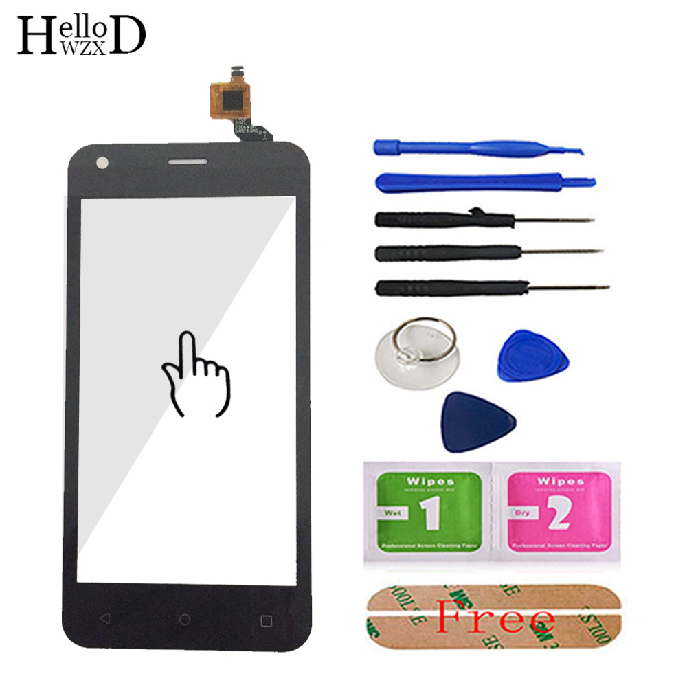 4.5'' Phone Touch Panel Touchscreen For Fly FS454 Nimbus 8 FS 454 Touch Screen Digitizer Glass Sensor Parts Tools Adhesive
