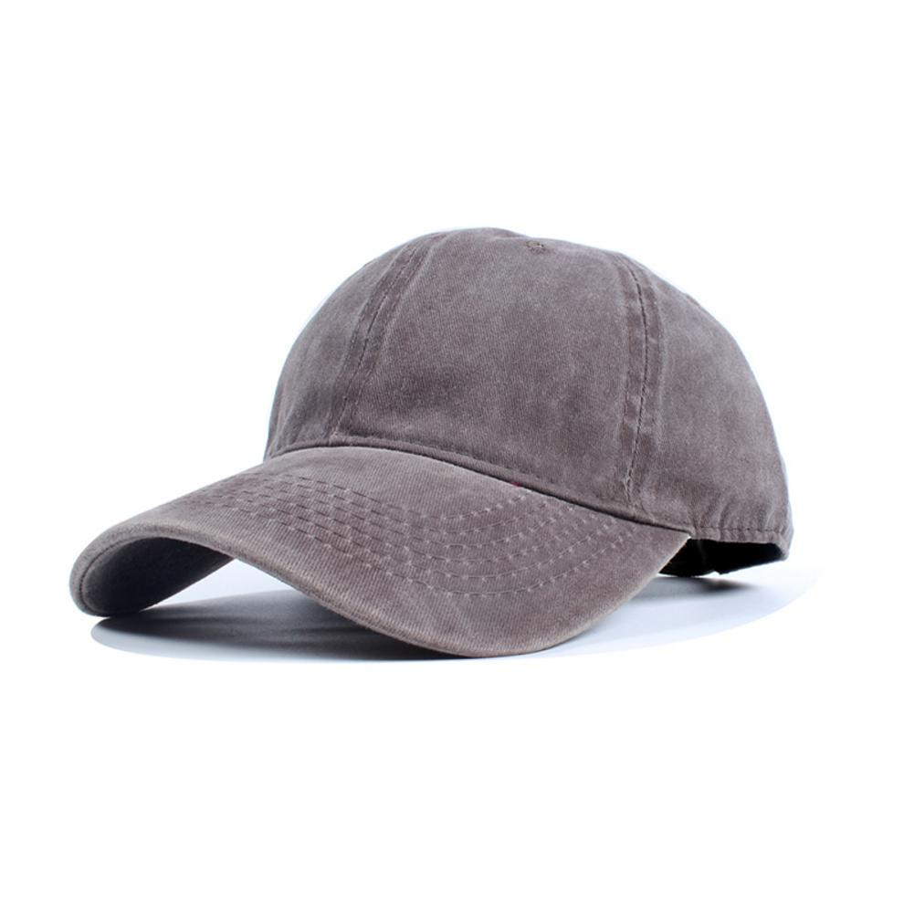 Retro Washed Denim   Baseball     Cap   Fitted Snap Back Hat For Men Women Autumn Summer Outdoor Suncreen Sun Hat Solid Mult Color