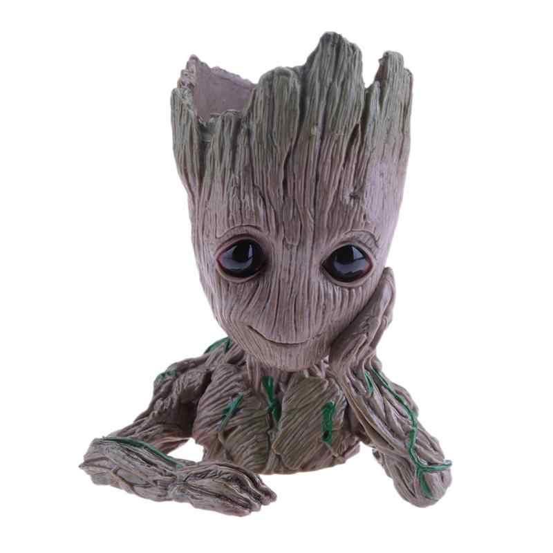 Детские Грут горшок плетеная корзина-горшок для цветов фигурки дерево человек милые модели ручка-игрушка горшок садовый декоративный цветочный горшок подарки для детей