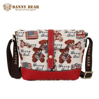 DANNY BEAR Women Small Messenger Bag Ladies Fashion White Crossbody Bag Vintage Shoulder Bag For Teenager Girls Cross Body Bags