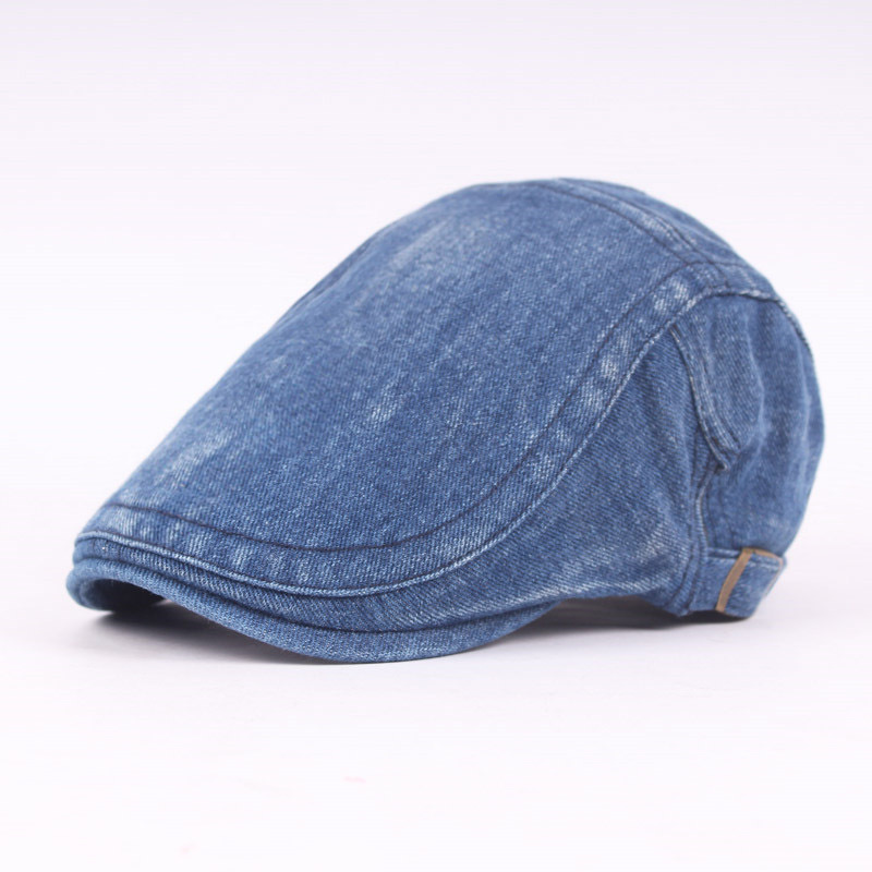Fashion Men Women Summer Denim Jeans Visors Hat Gatsby Cap Ivy Hat  Driving Hat Flat Cabbie Newsboy Can Adjusted Tongue Cap