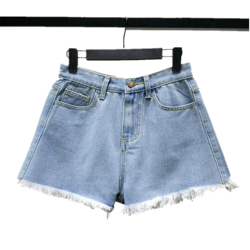 B2458 New Style Spring And Summer 2019 Students Lace Embroidered Women Loose Wide Leg Hot Denim Shorts Cheap Wholesale Women's Clothing
