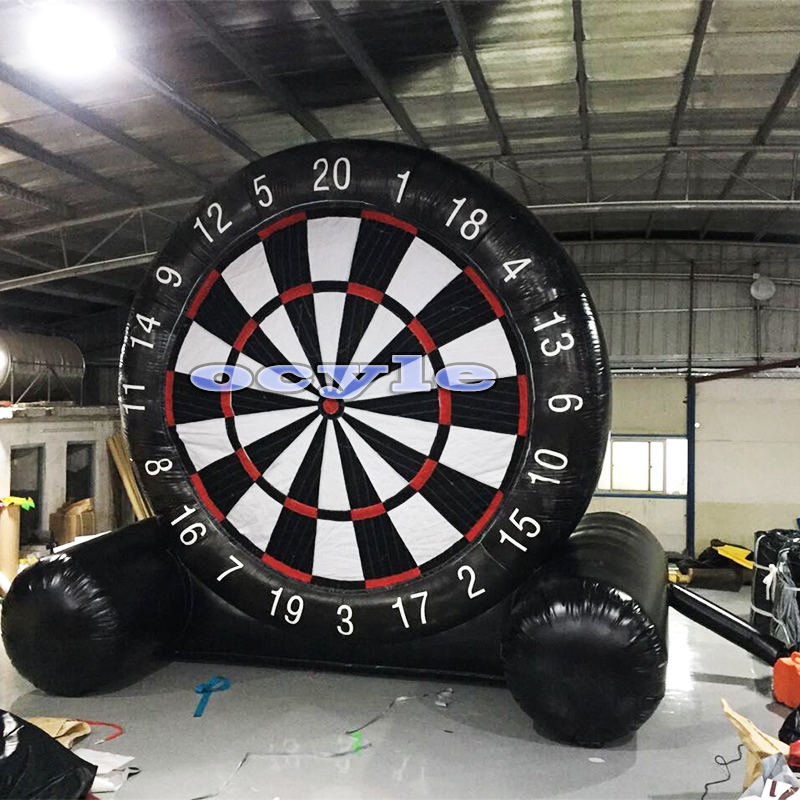 Hot black Adult child 2.5m/8.2ft height inflatable dart board inflatable football soccer dart board inflatable soccer darts game customized 3x1x2 5 meters inflatable dart game high quality inflatable dart board for adult and kids toys