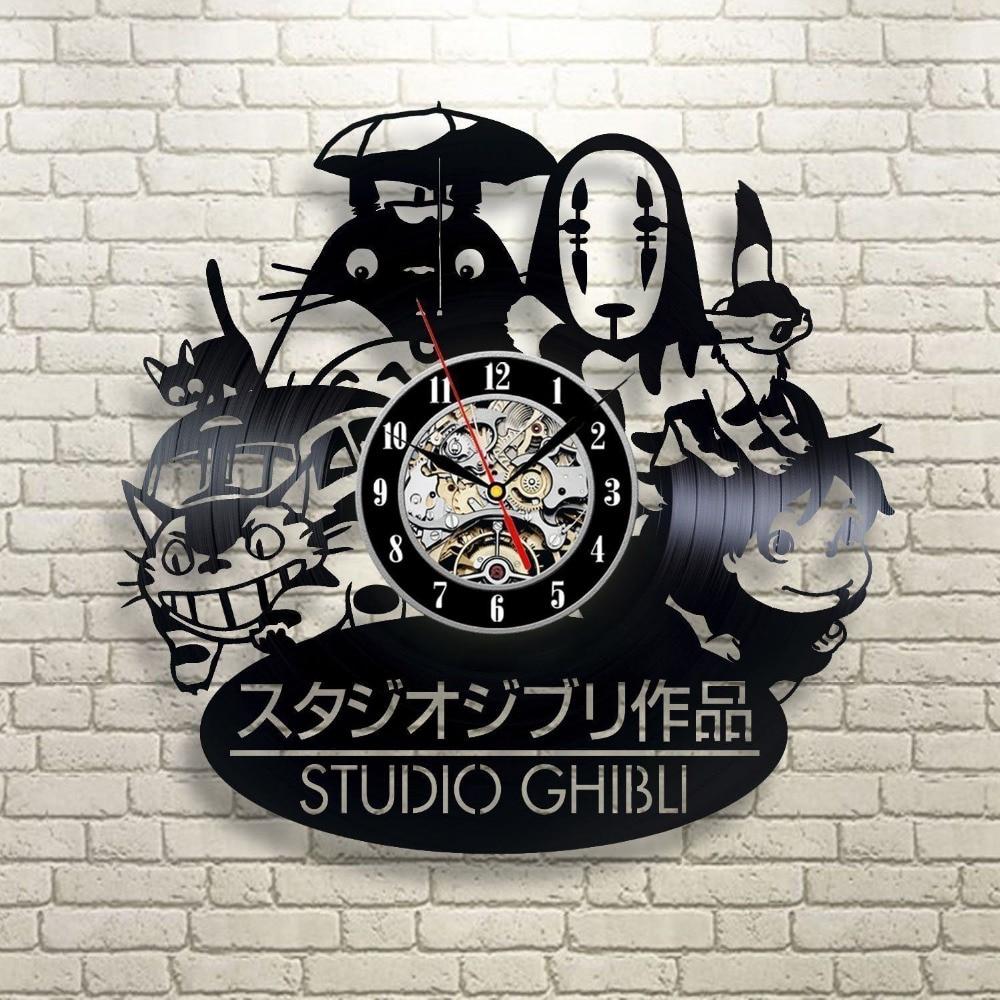 2018 New CD Vinyl Record Wall Clock Modern Wall Watch Home Decor Classic Clock Relogio Parede