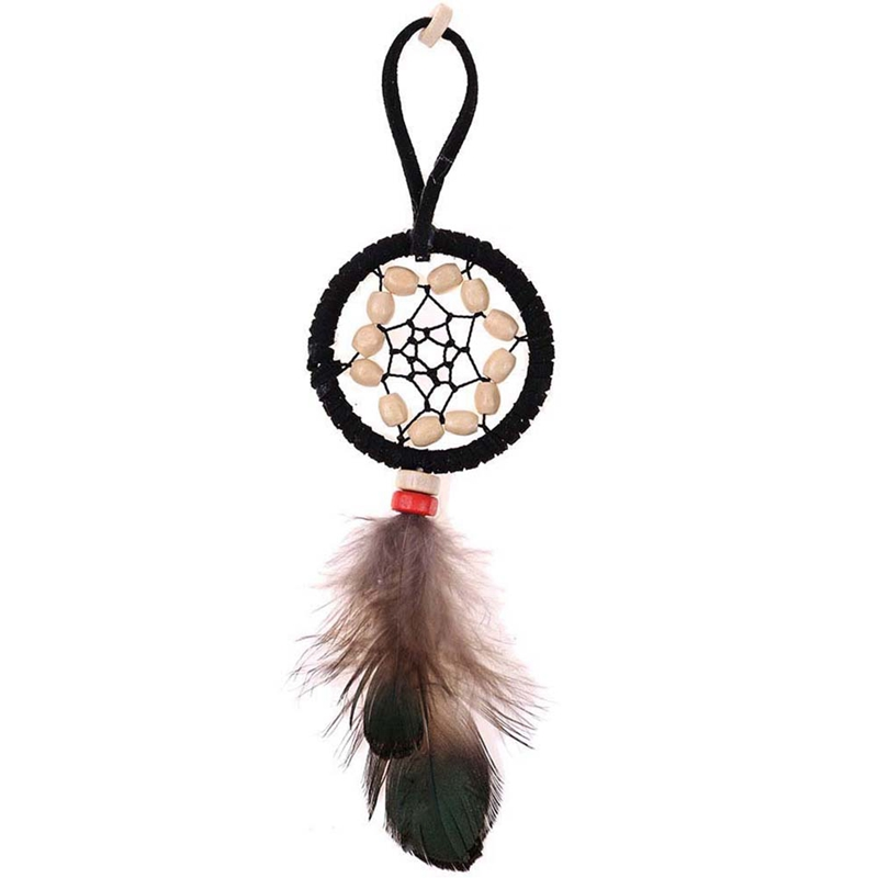 2019 New Hot Sale New Style Dreamcatcher Keyring Bag Charm Boho Jewelry Feather Keychain For Women