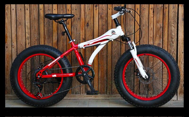 HTB1aIBQSgHqK1RjSZJnq6zNLpXa5 KUBEEN mountain bike 21 speed 2.0 inch bicycle Road bike Fat Bike Mechanical Disc Brake Women and children bicycles