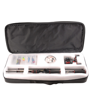 Image 5 - Smart Vissen Set 1.98M Casting Hengel Combo Baitcasting Reel 100M Nylon Lijn Lokken Vissen Box Lepel Aas vissen Haak Pin