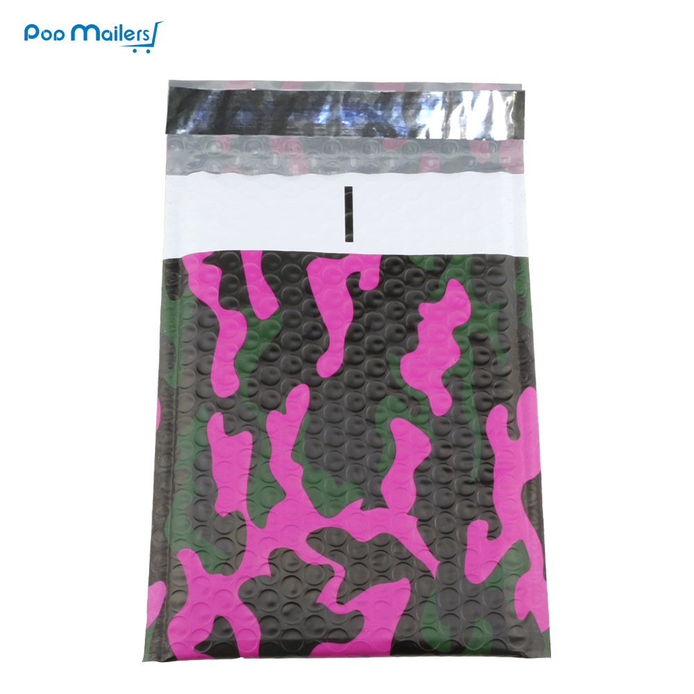 50pcs 175x230mm Camouflage color Plastic bubble mailer,Blend color poly bubble envelope wrap bag