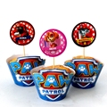 72pcs New Cartoon PAW Patrol Party Cake Decoration 36 pcs Toppers +36 pcs Wrappers Cartoon Kids Birthday Party Supply