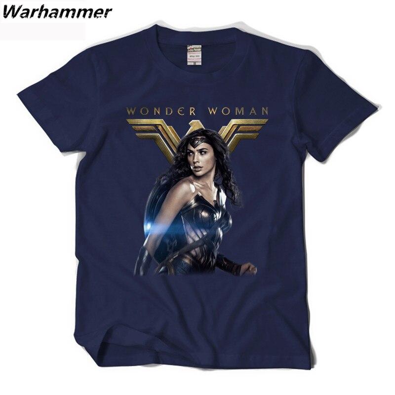 Warhammer Wonder Woman футболка новый Стиль фильм Косплэй летняя 3d рубашка Homme с круглым вырезом и принтом хлопок с коротким рукавом ЕС Для мужчин футб...