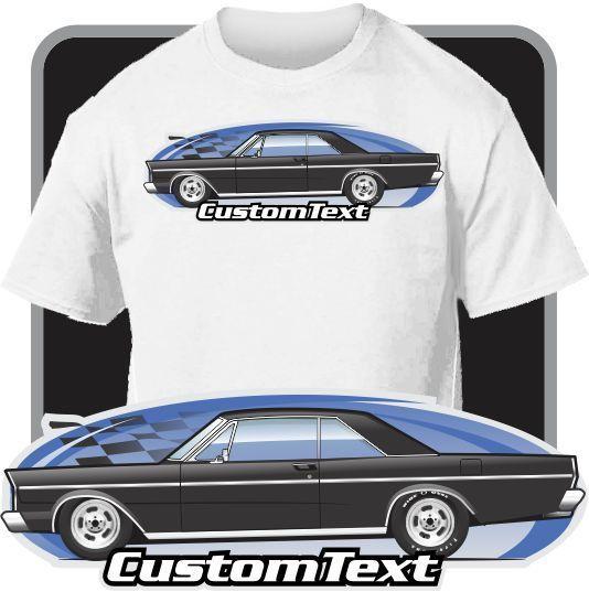 Print Men T Shirt Summer Custom Art T-Shirt 1965 2-door Coupe Hardtop Not Affiliated American Classic Car Fans Tee