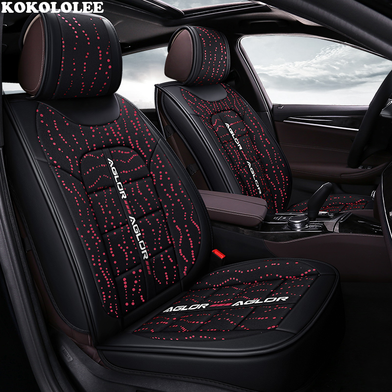 KOKOLOLEE car seat cover for suzuki swift jimny sx4 baleno grand vitara ignis Automobiles seat covers car-styling car trunk mat for suzuki swift suzuki jimny grand vitara sx4 ignis car accessories