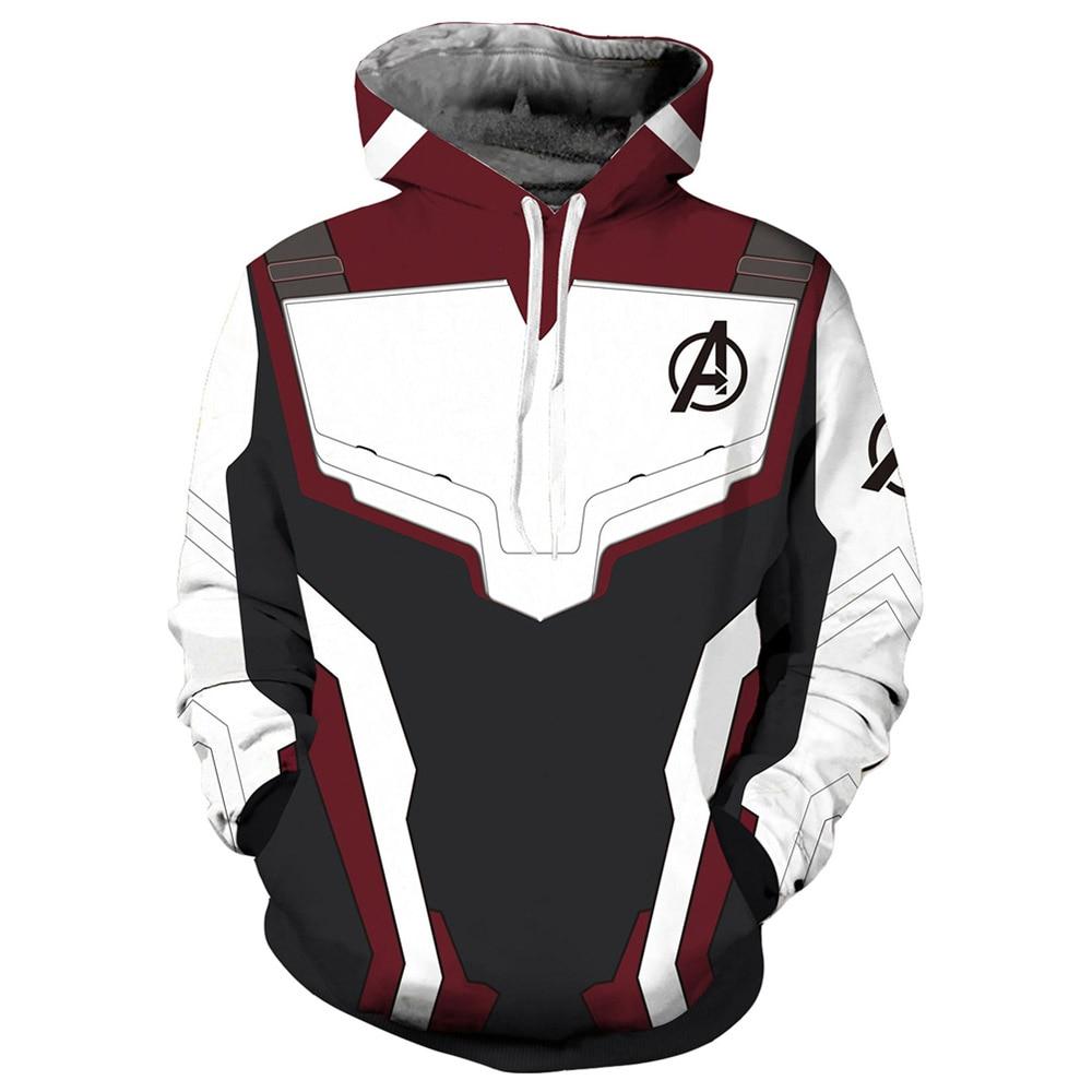 Avengers Endgame Realm Hoodies 3D Print Pullover Sweatshirt Quantum Realm Superhero Zipper Jacket Cosplay Hoody Hoodie