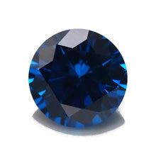 3 ~ 10 мм новый синий оптом 5А cz камень Бриллиантовая круглая