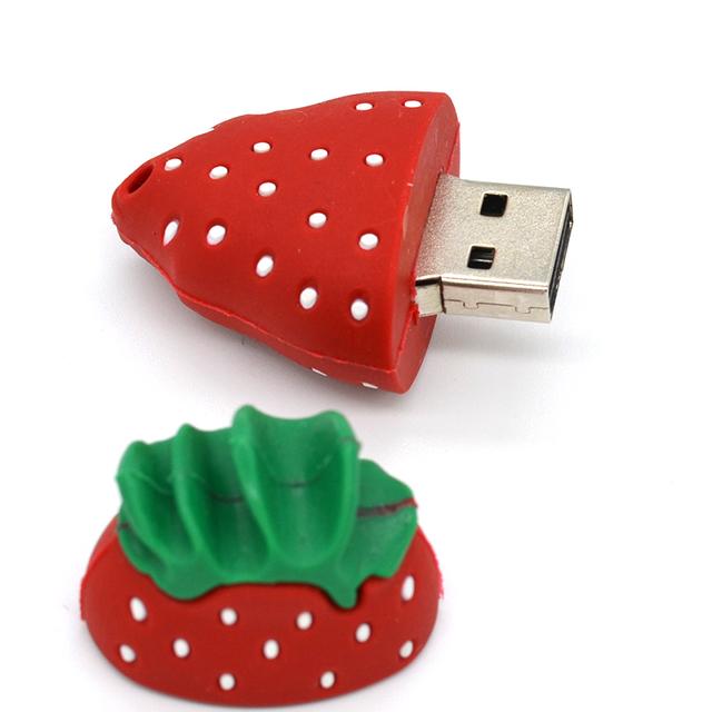 Funny fruit cute pendrive strawberry usb flash drive
